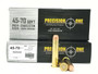 Precision One 45-70 Ammunition Trapdoor Version PONE882 350 Grain Flat Point Case of 200 Rounds