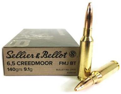 Sellier & Bellot 6 5 Creedmoor Ammunition SB65A 140 Grain Full Metal Jacket  500 rounds