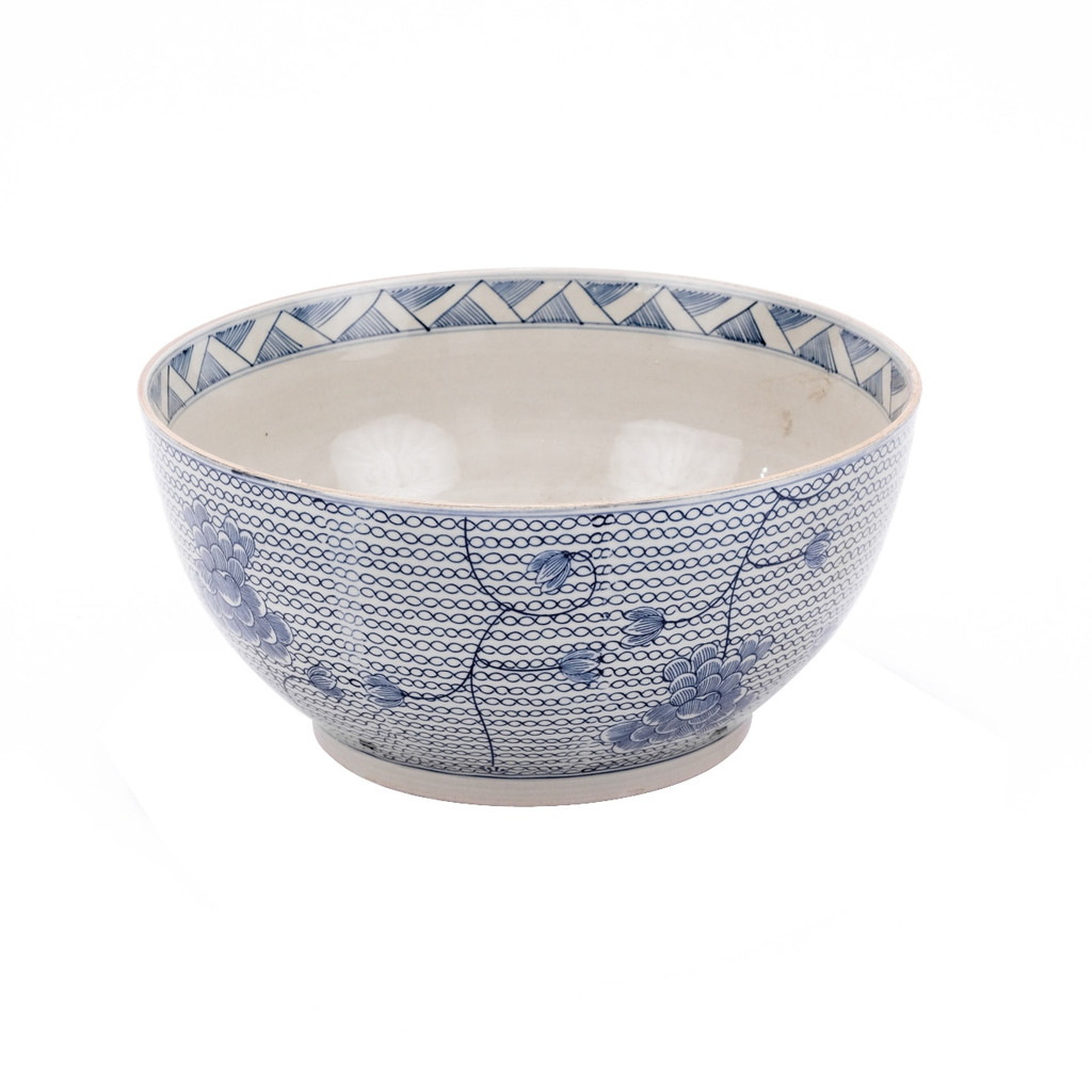 Blue & White Chain Bowl