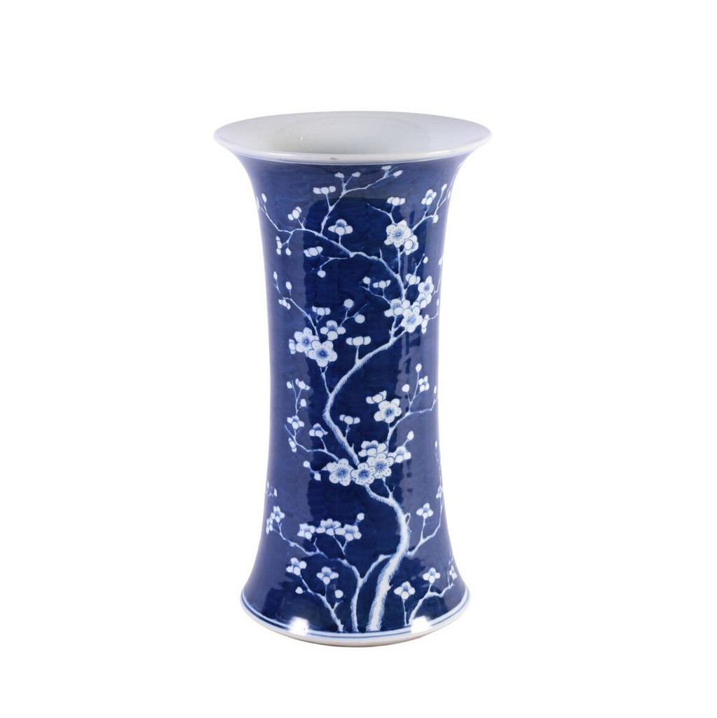 Blue & White Plum Blossom Umbrella Stand Vase