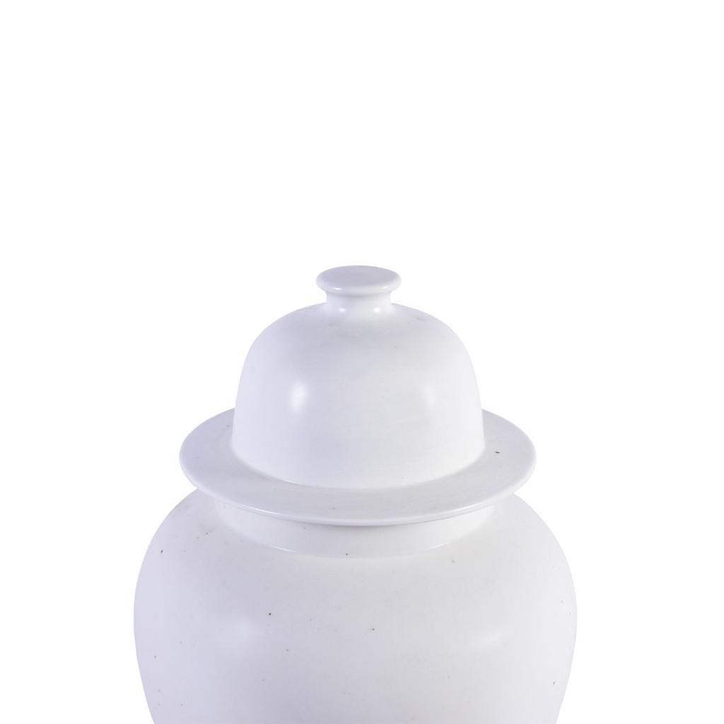 Matte Glaze White Temple Jar