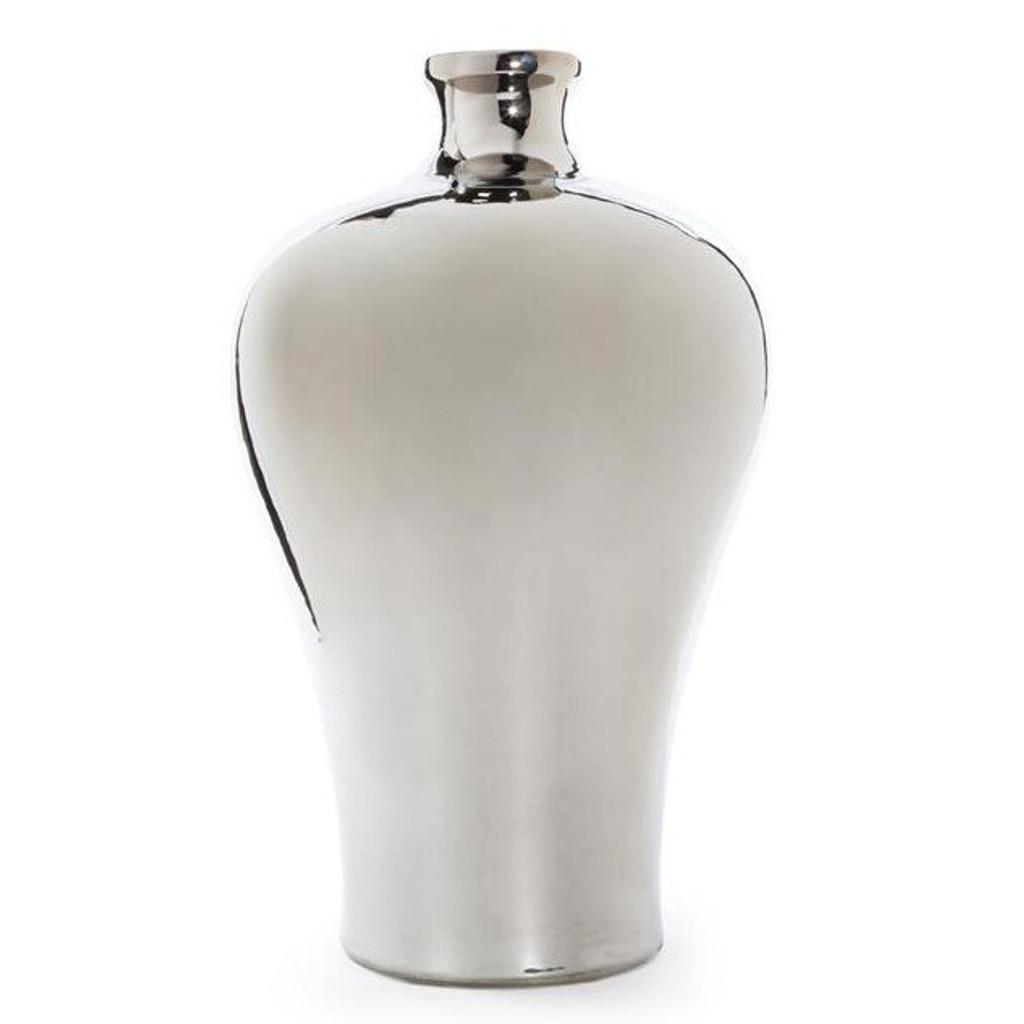 Metallic Silver Prunus Vase