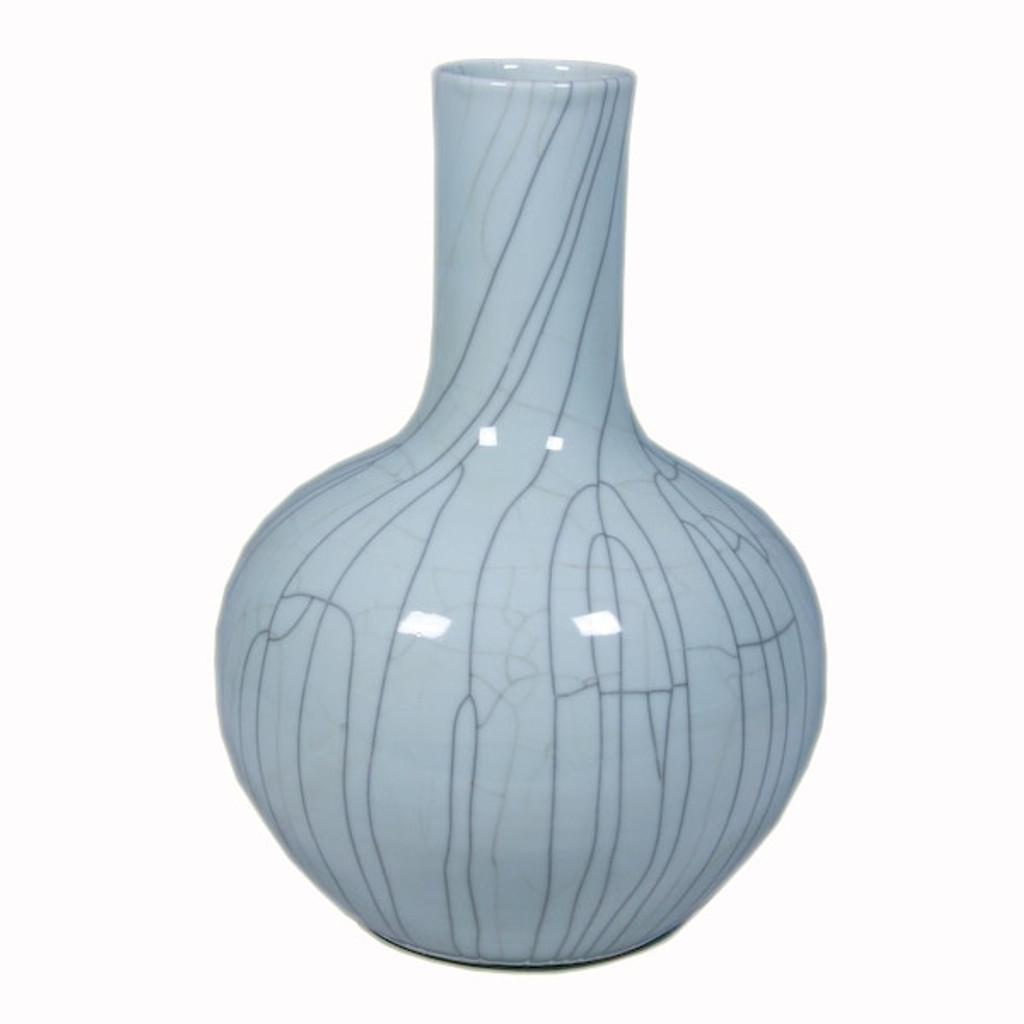 Crackle Celadon Globular Vase