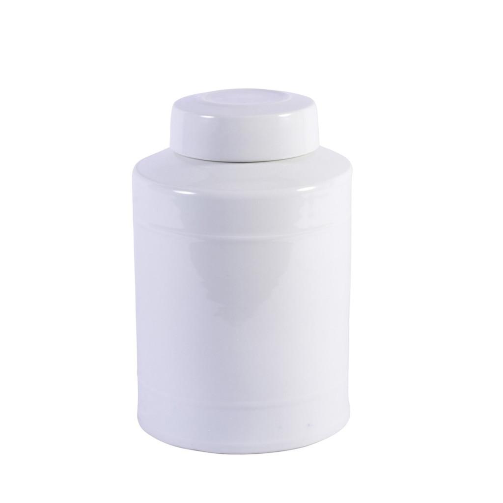 Round Tea Jar White - 2 Sizes
