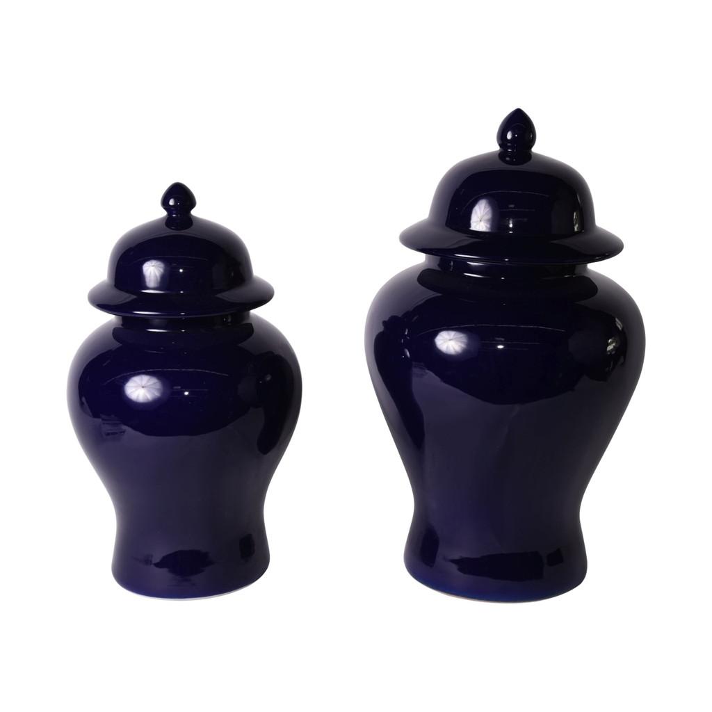 Cobalt Blue Temple Jar - 2 Sizes