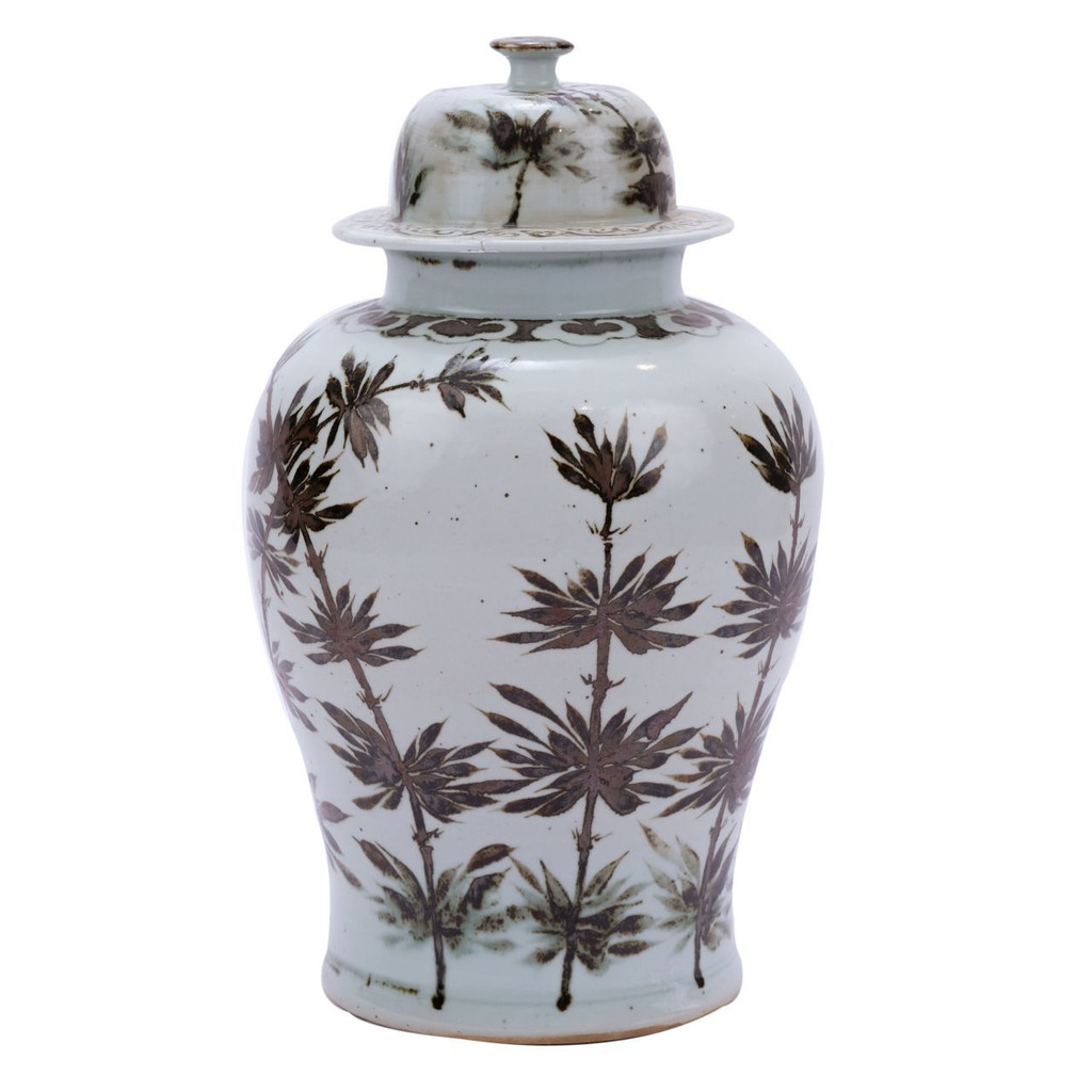 Rusty Brown Yuan Dynasty Bamboo Temple Jar