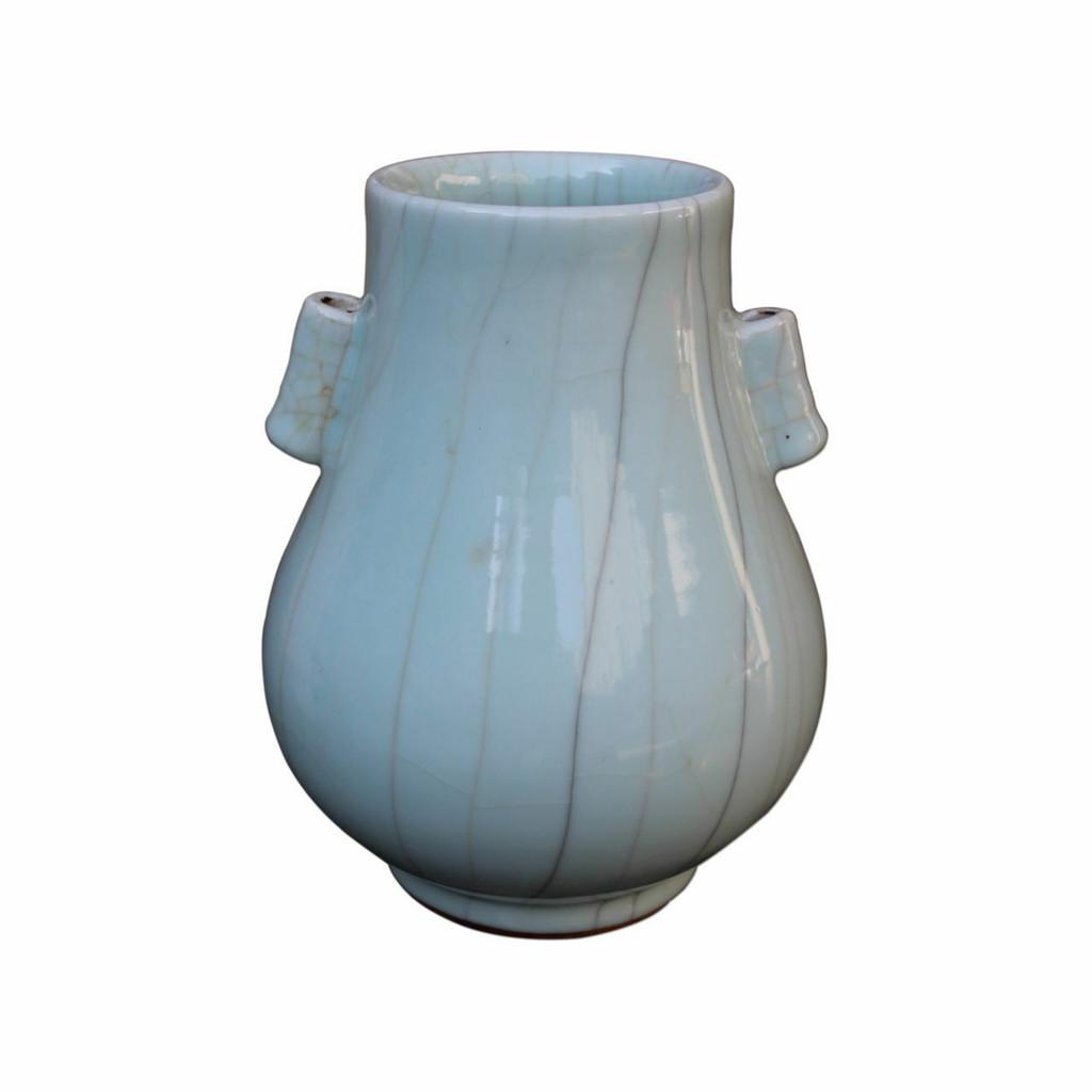 Crackle Celadon Double Ear Vase - 2 Sizes