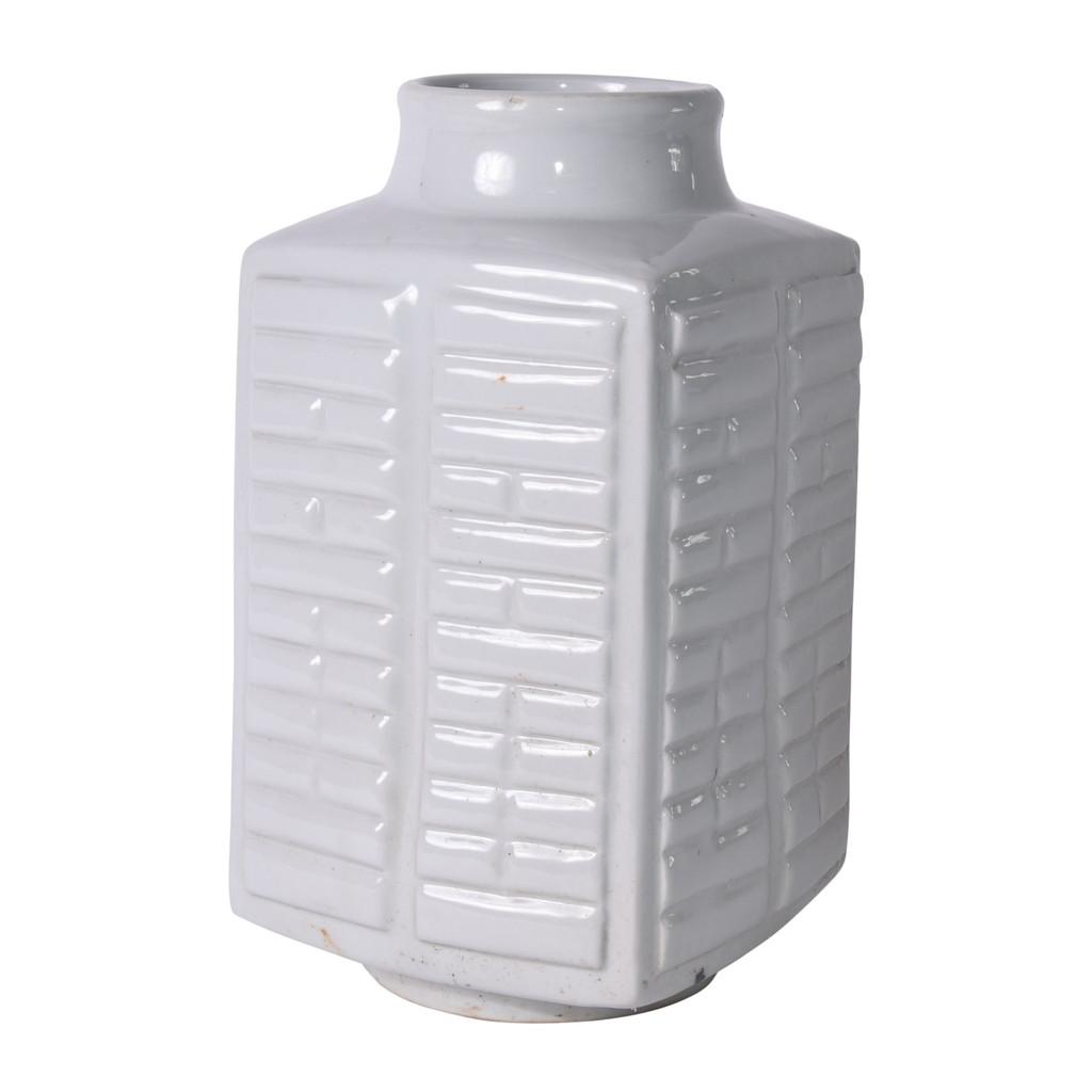 White Tai Chi Eight Trigrams Porcelain Vase - 2 Sizes