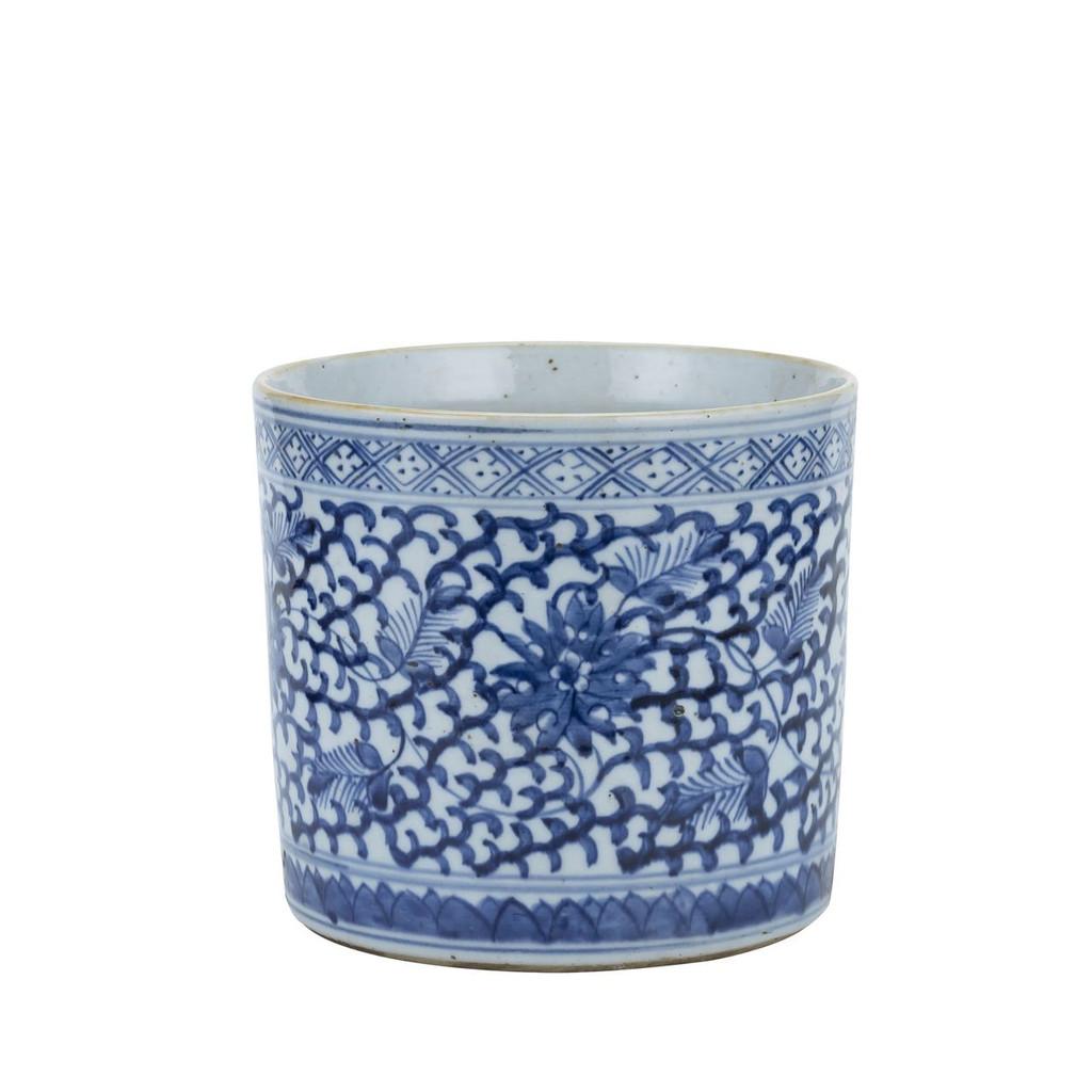 Blue & White Porcelain Climbing Vines Orchid Pot