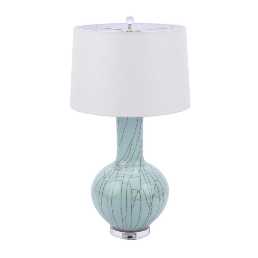 Crackle Celadon Globular Vase Table Lamp