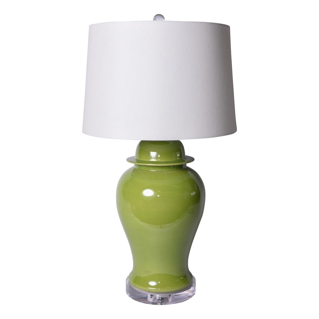 Lime Green Temple Jar Table Lamp