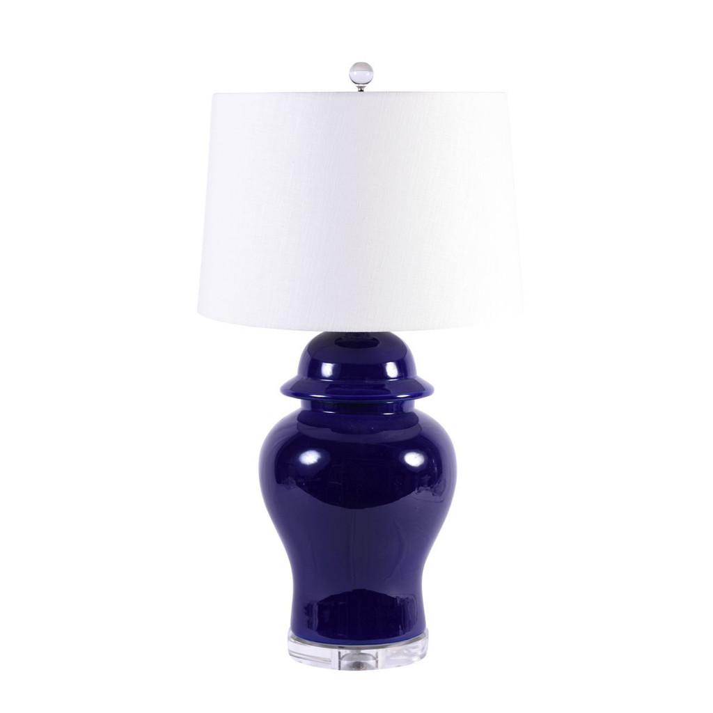 Cobalt Blue Temple Jar Table Lamps - 2 Sizes