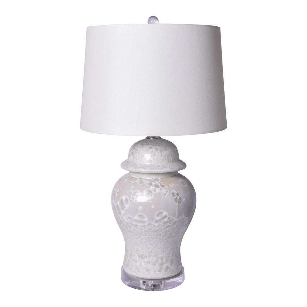 Crystal Shell Temple Jar Table Lamp