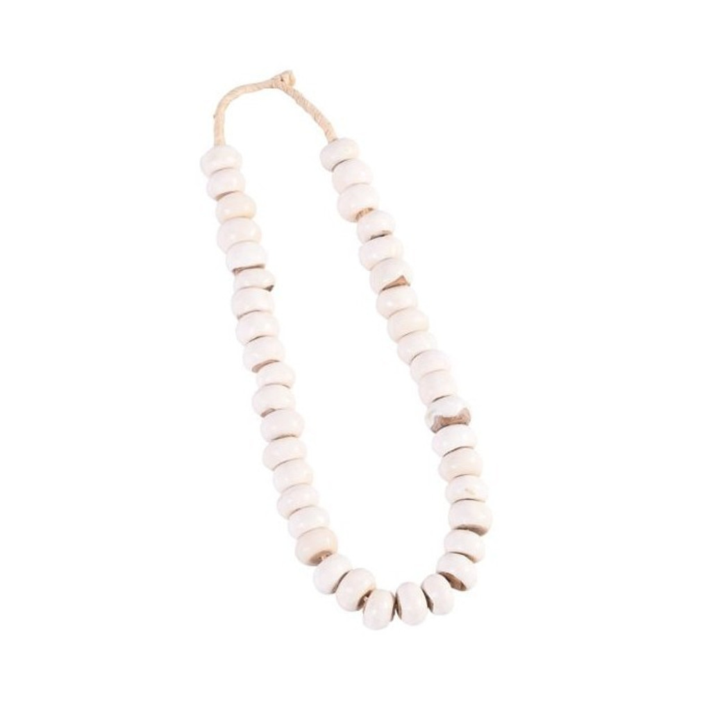 Kenya Cow Bone Drum Beads Per String