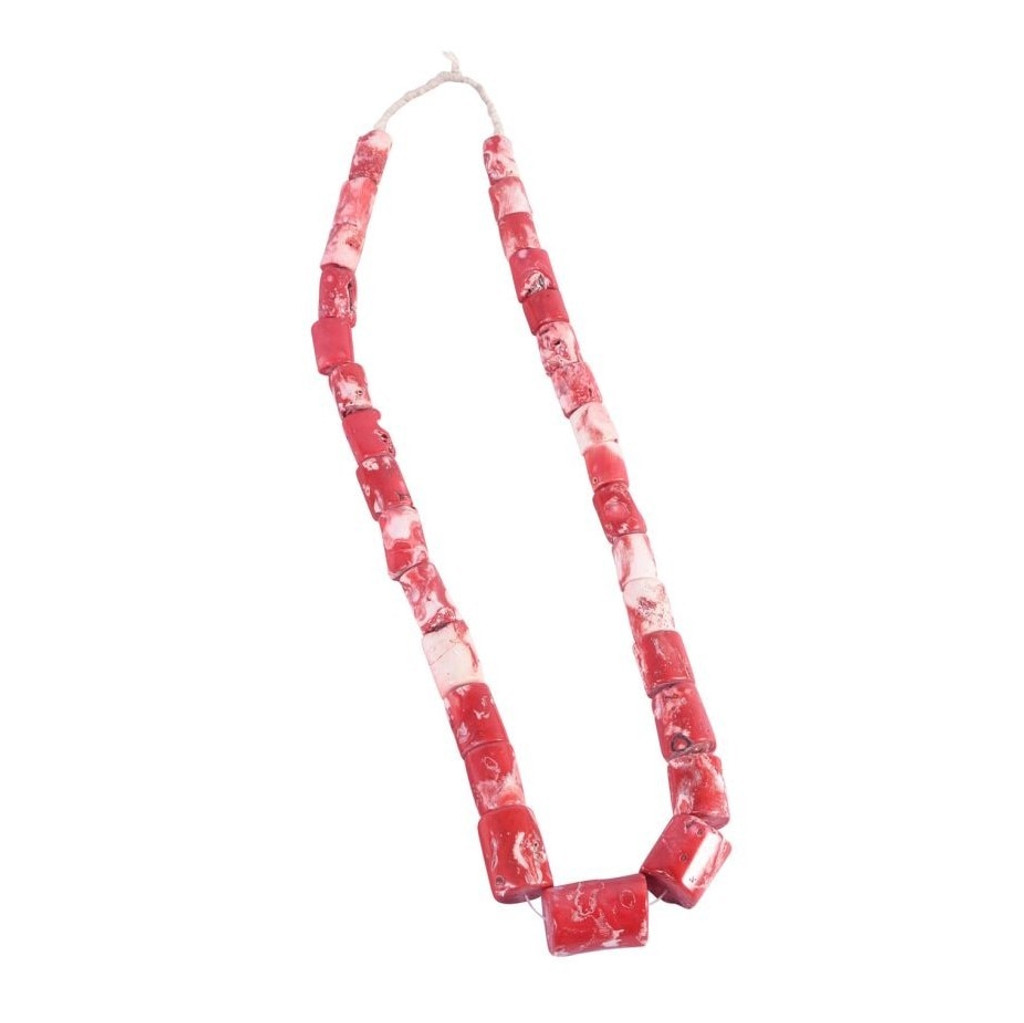 Nigeria Red Coral Beads Per String