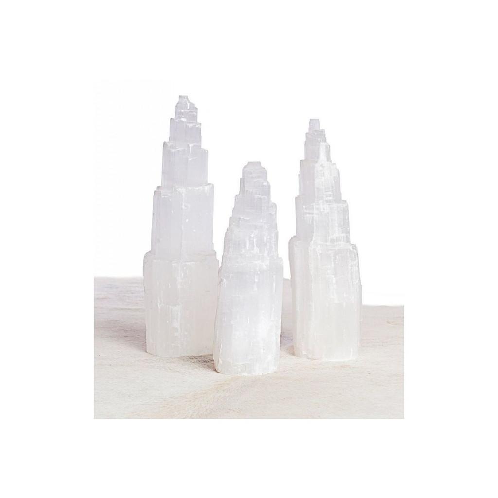 Selenite Single Tower Lamp - 2 Sizes