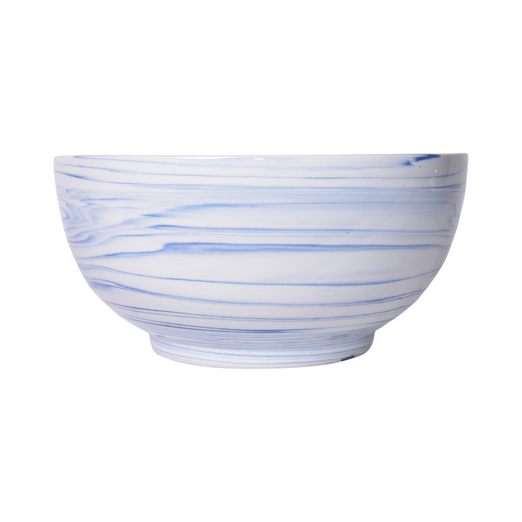 Blue And White Marblized Bowl
