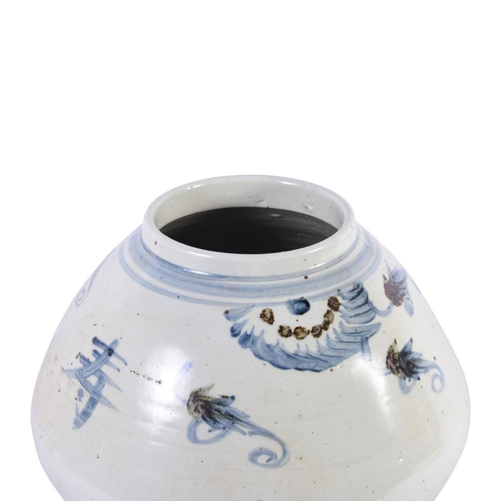 Blue & White Silla Longevity Tappered Pot