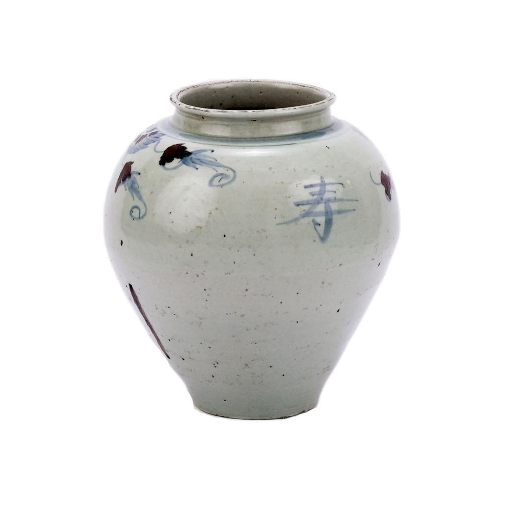 Blue & White Silla Longevity Wide Mouth Porcelain Jar
