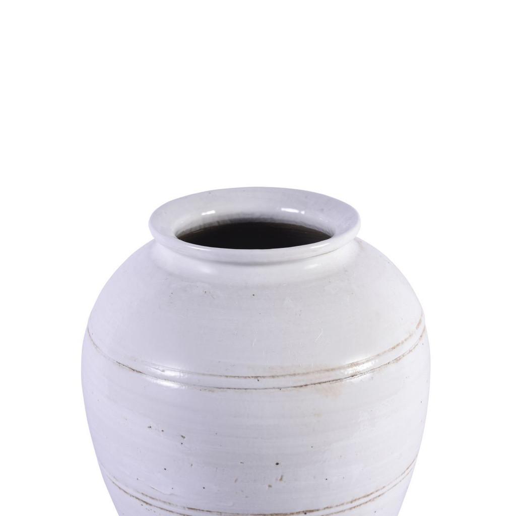 Busan White Open Mouth Kimchi Porcelain Jar