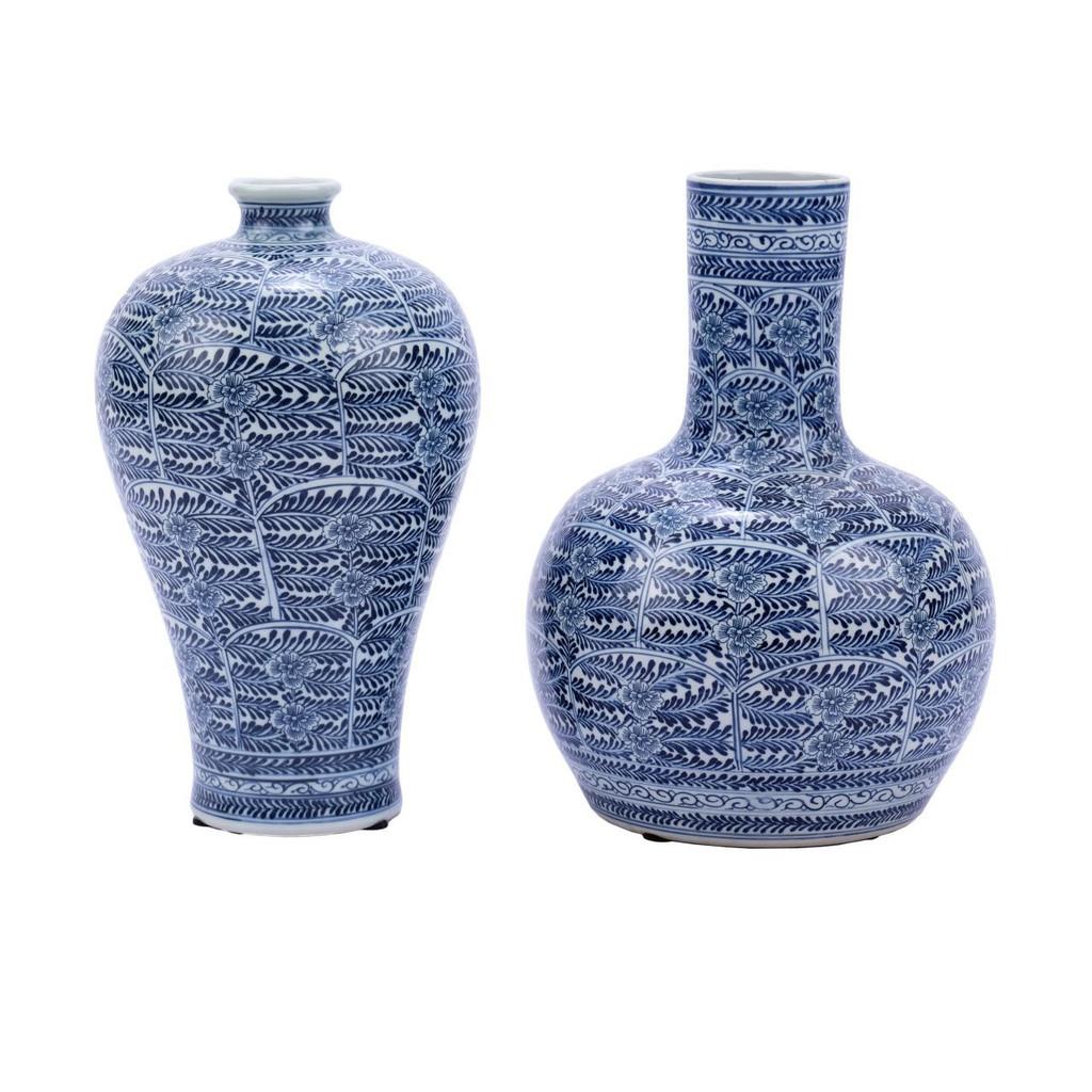 Blue & White Blossom Plum Porcelain Vase