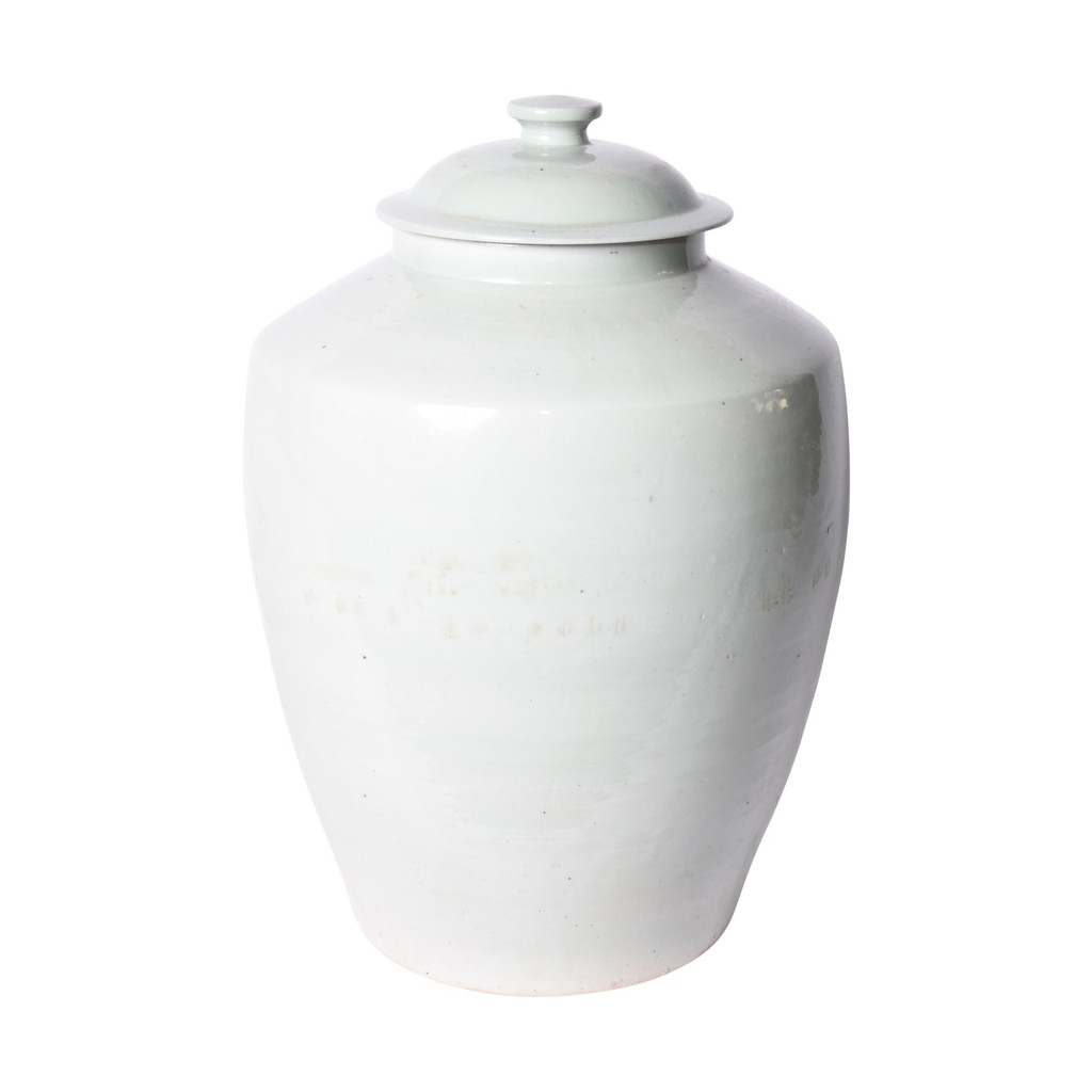 Lidded Barn Porcelain Jar Mint Green