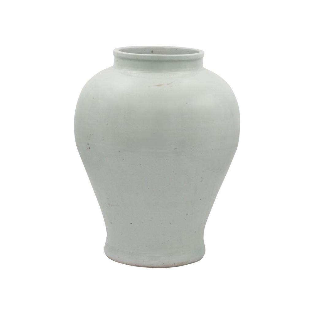 Mint Green Open Mouth Porcelain Jar Large