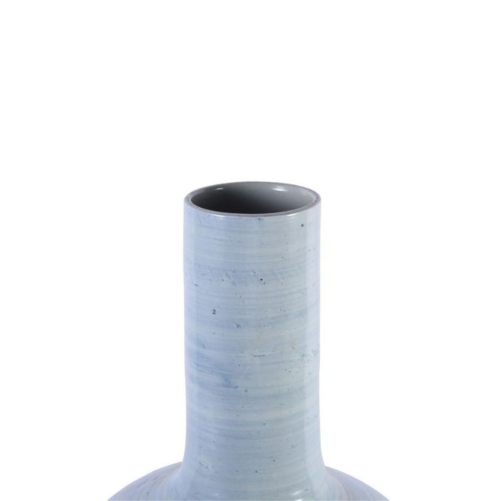 Lake Blue Porcelain Globular Vase - 3 Sizes