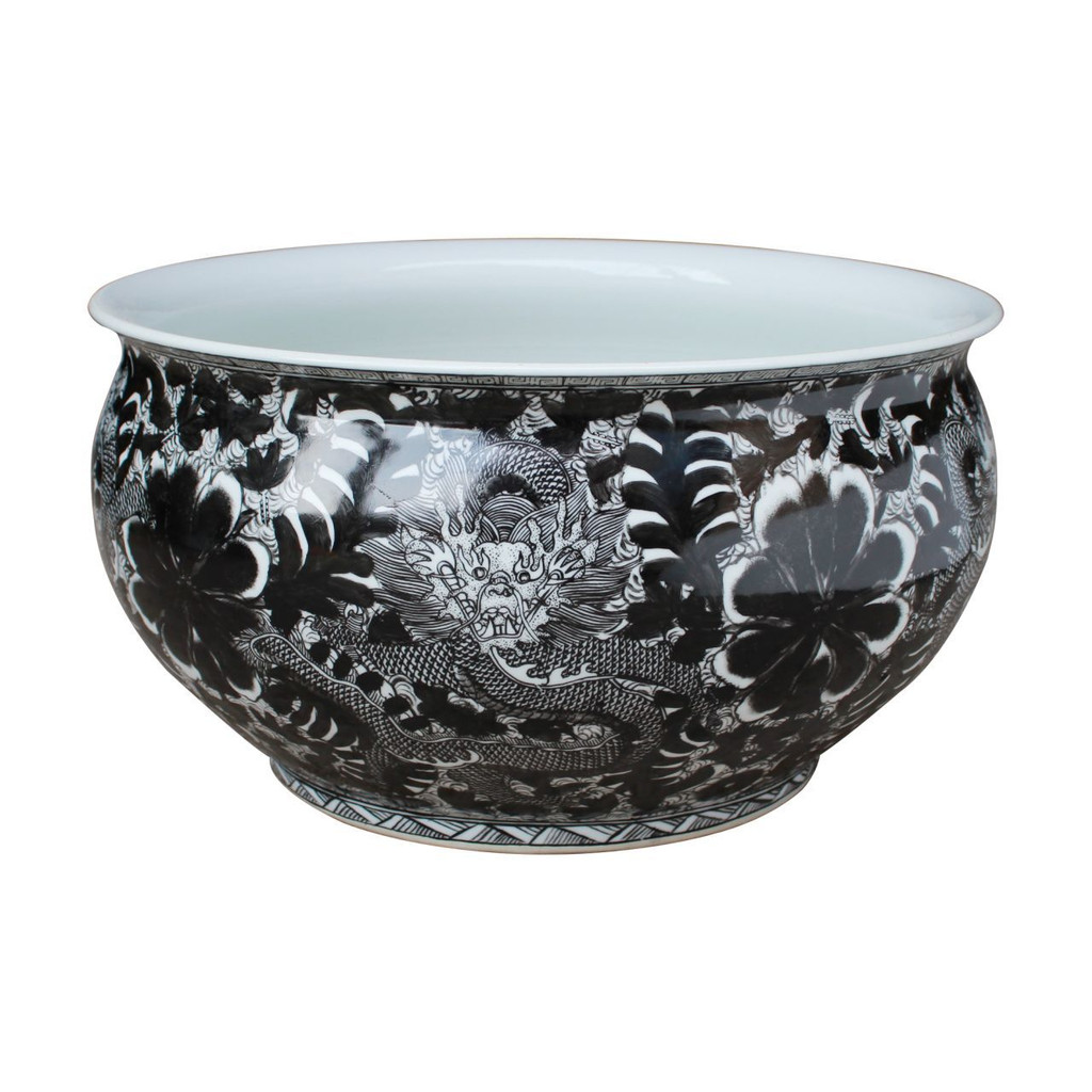 Black Dragon Orchid Bowl