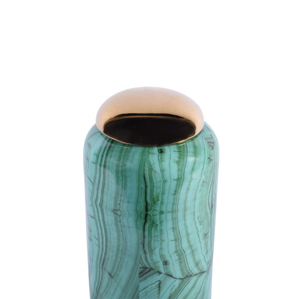 Forest Green Cylinder Porcelain Jar - 2 Sizes