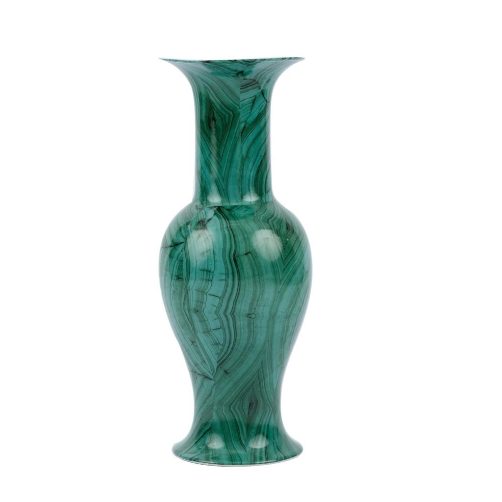 Forest Green Baluster Porcelain Vase - 2 Sizes