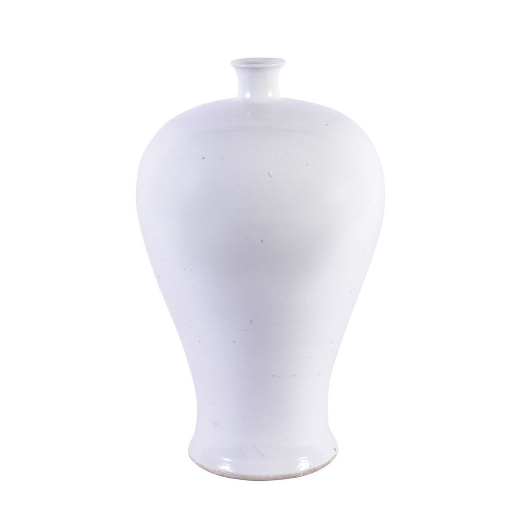 Matte White Plum Porcelain Vase Large