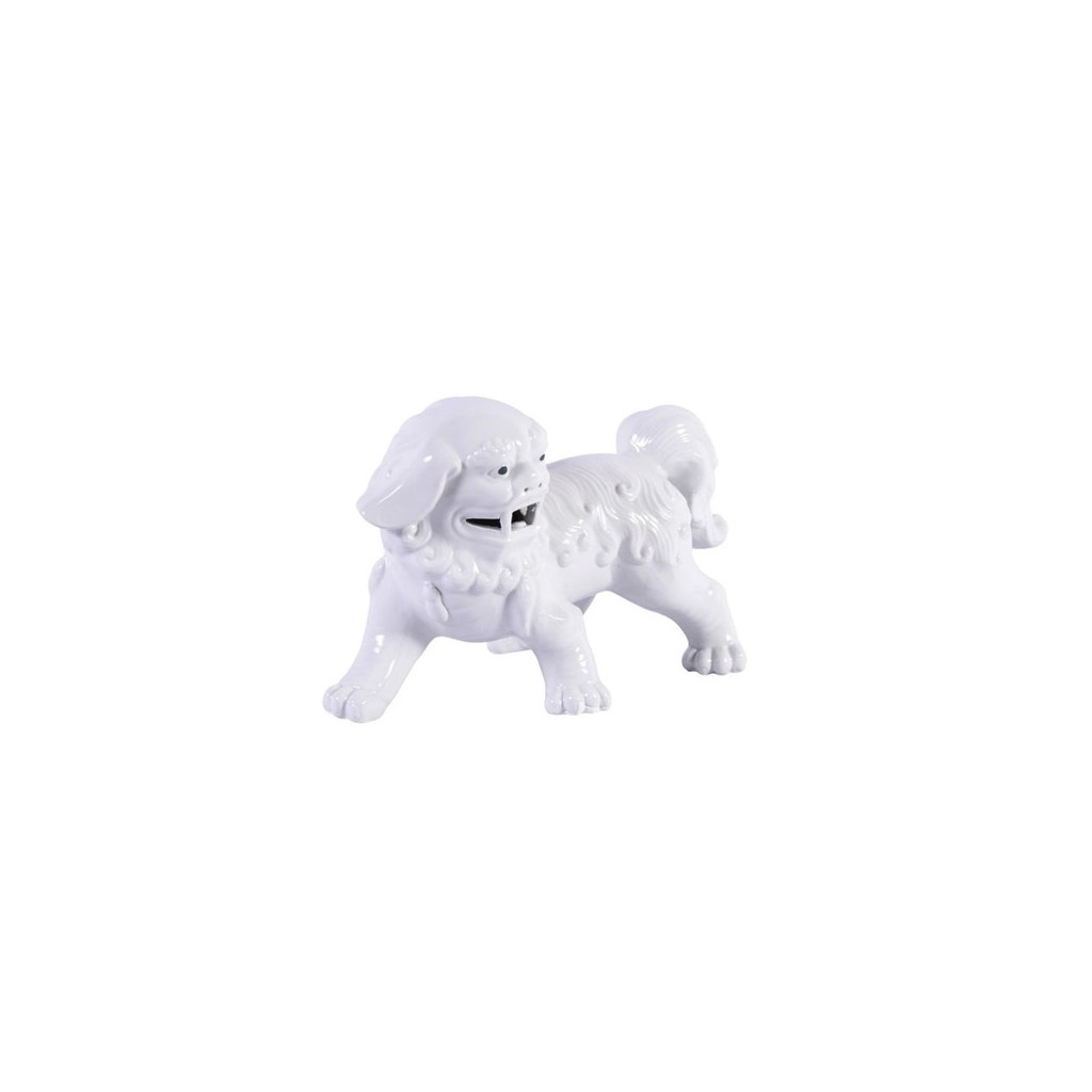 Porcelain Walking Foo Dog Pair White -  L