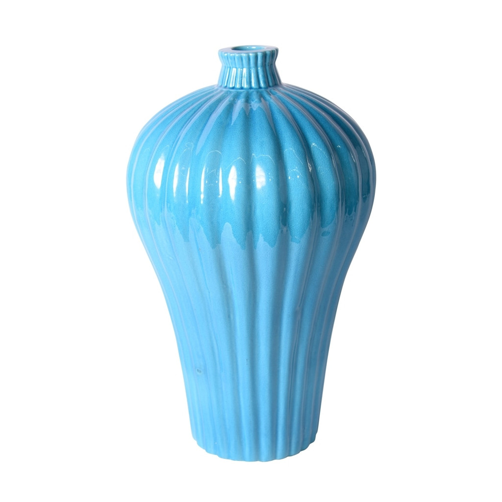Fluted Plum Vase Turquoise