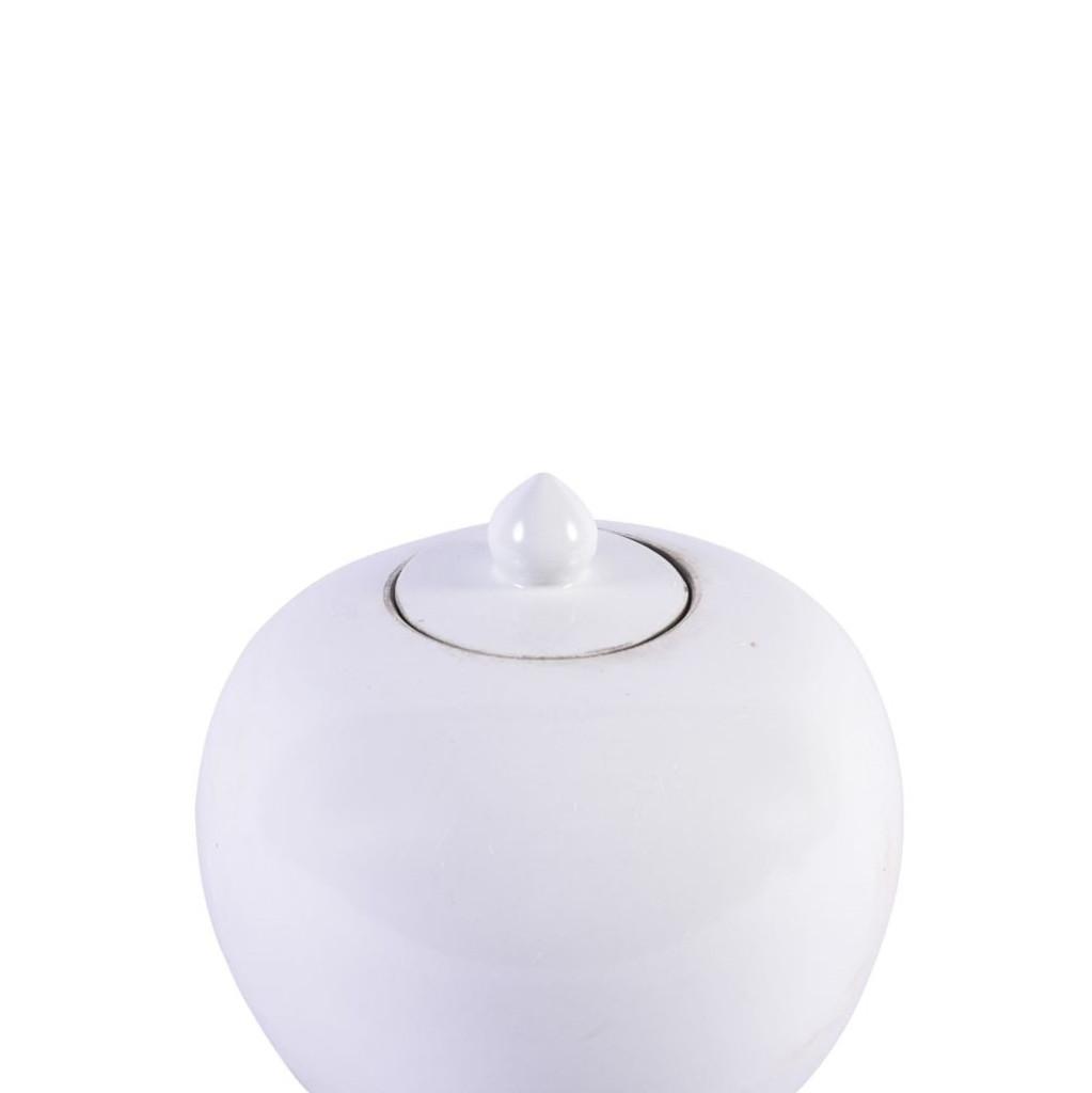 Matte White Porcelain Melon Jar
