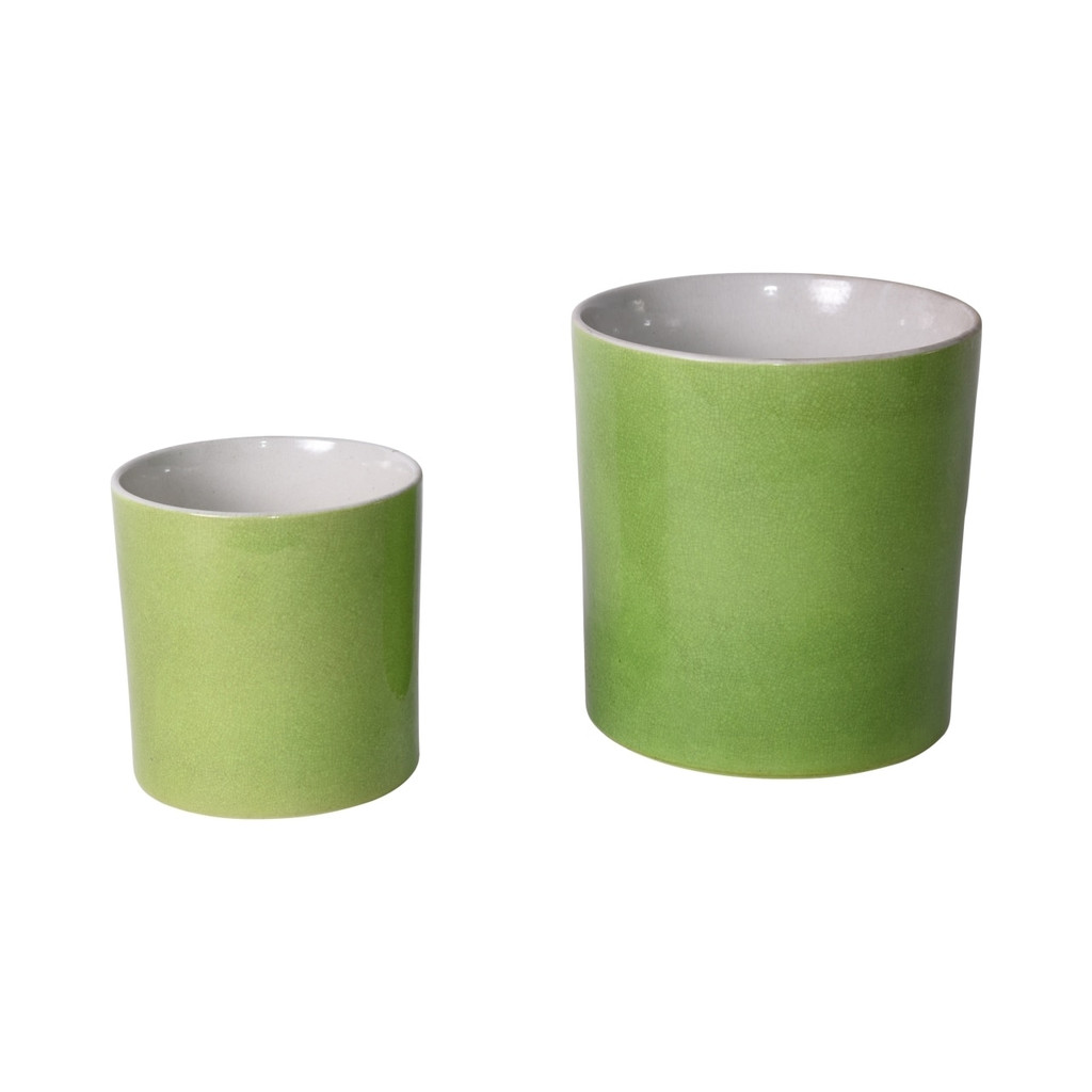 Lime Green Orchid Pot - Min 2