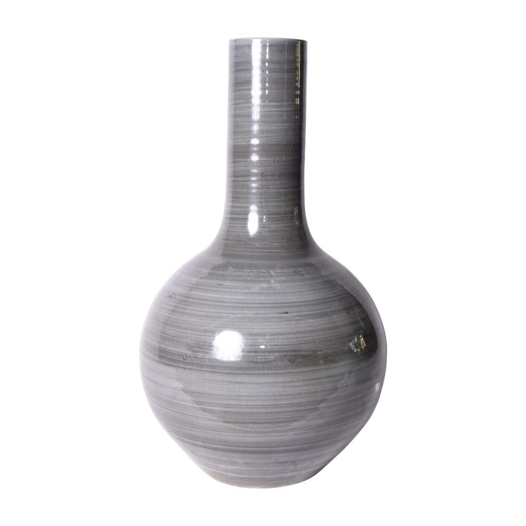 Iron Gray Porcelain Globular Vase