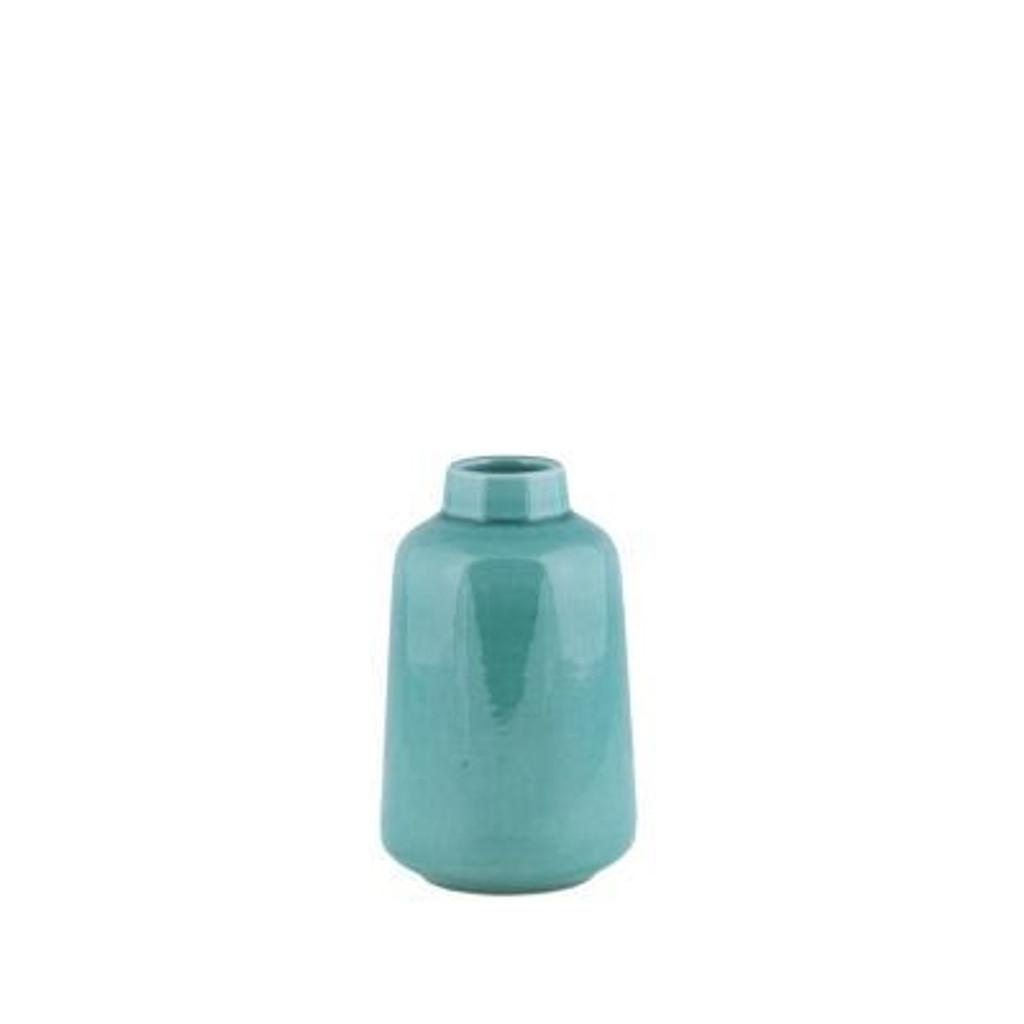 Vase Lewis Aqua Crackle - 2 Sizes