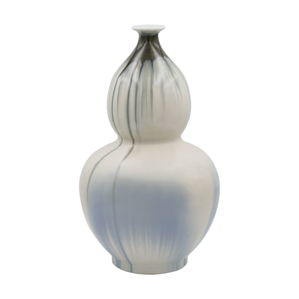 Reaction Glazed Porcelain Gourd Vase