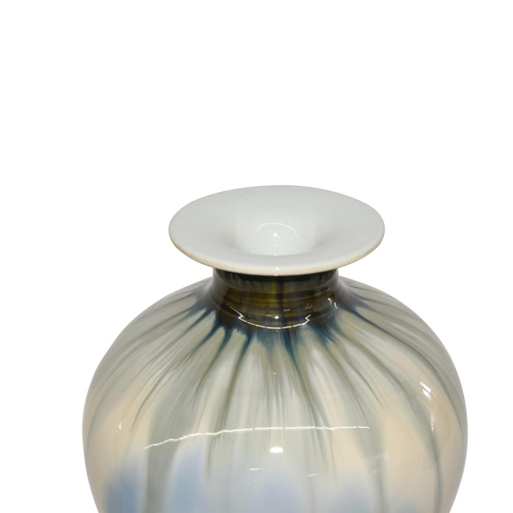 Reaction Glazed Porcelain Plum Vase