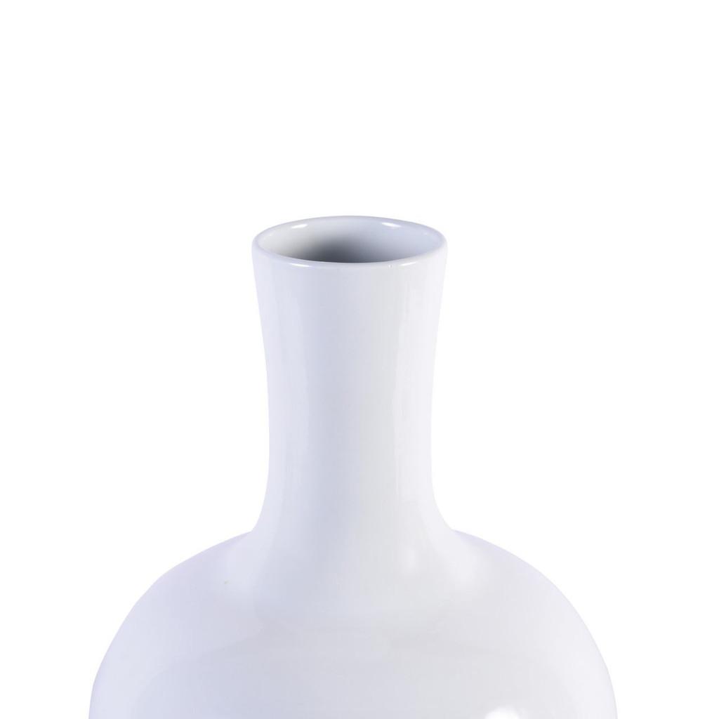 White Globular Vase