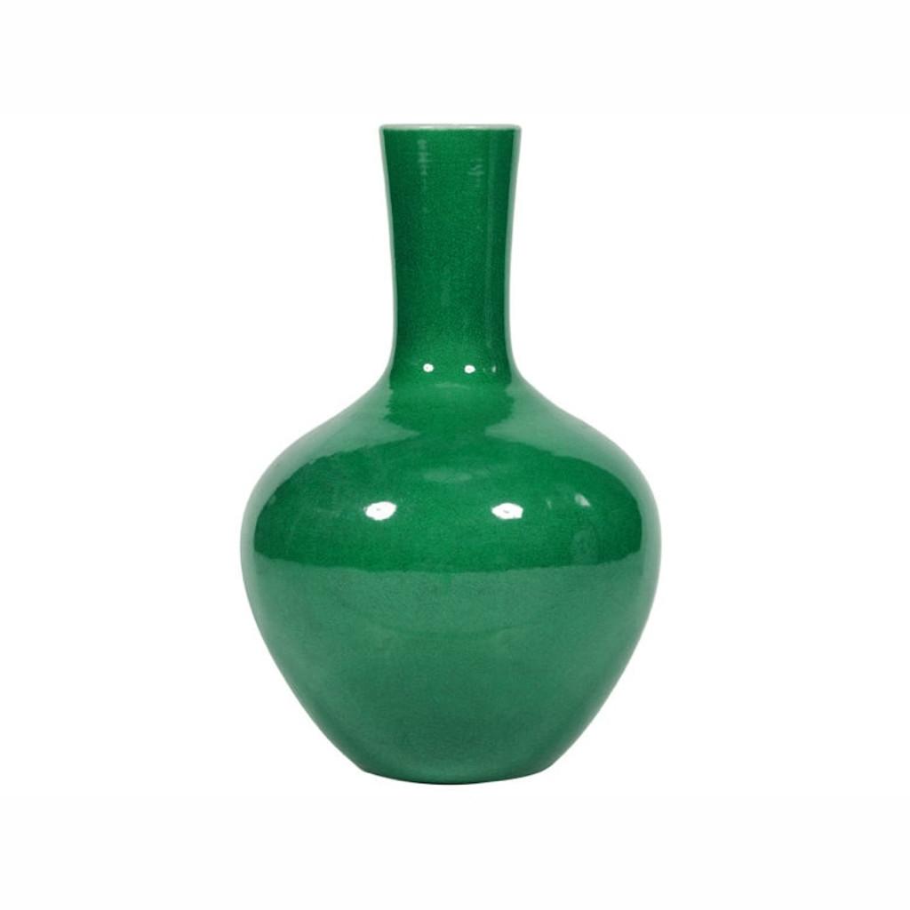 Emerald Green Globular Vase Medium
