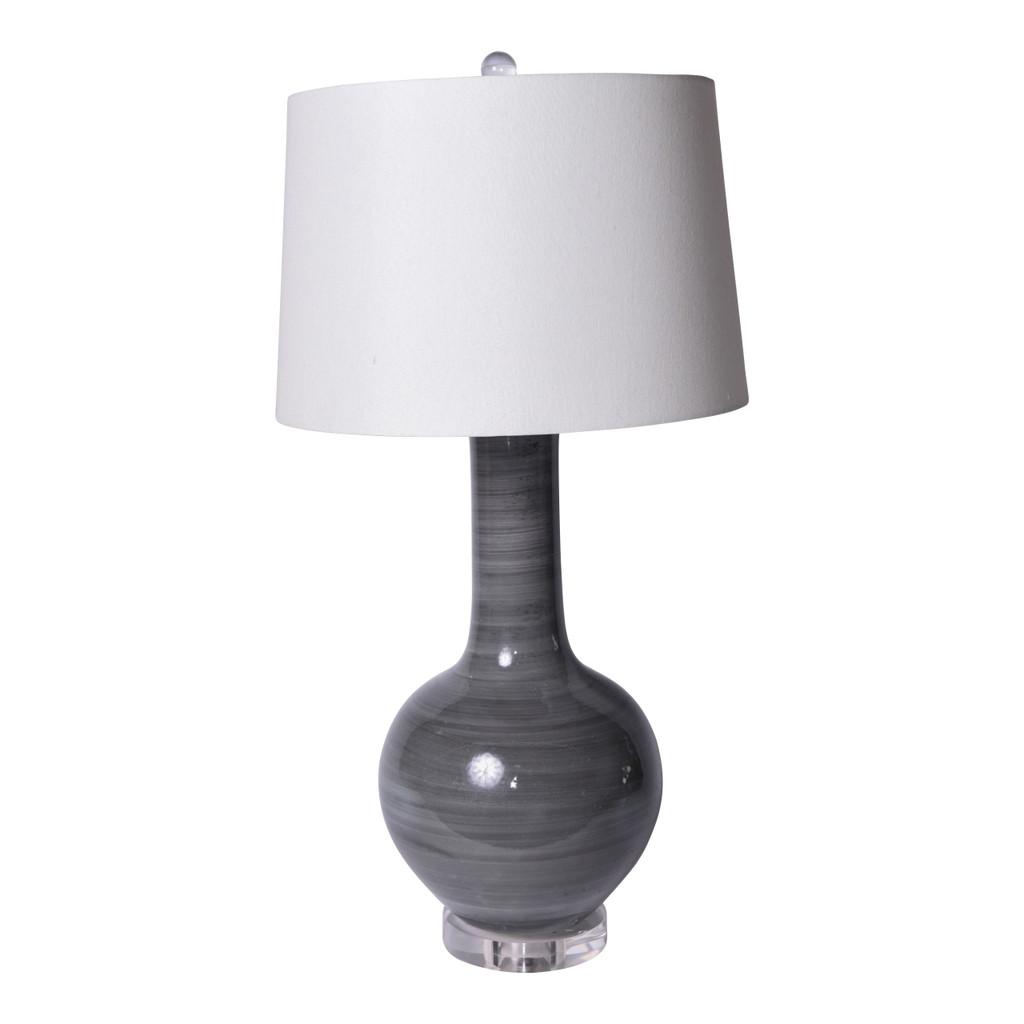 Iron Gray Globular Vase Table Lamp - 3 Sizes