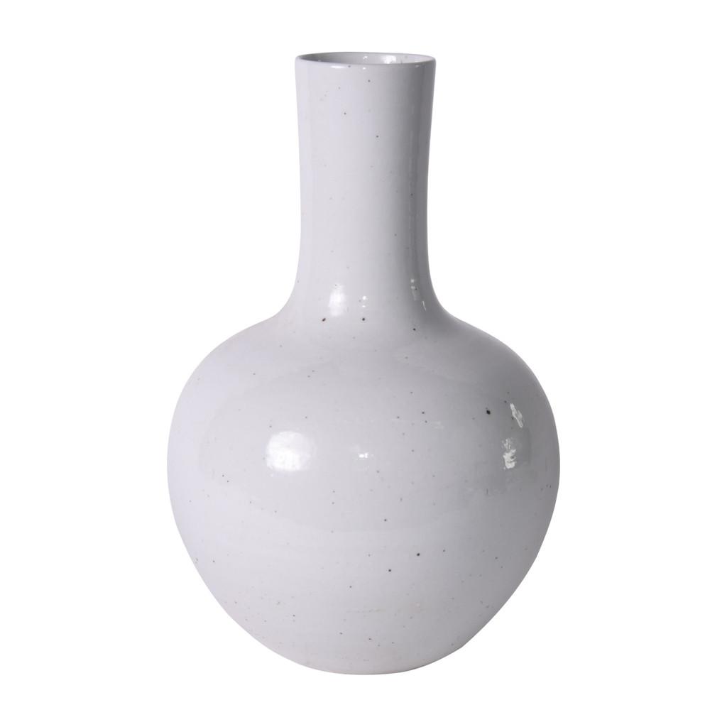 Busan White Globular Vase - 3 Sizes