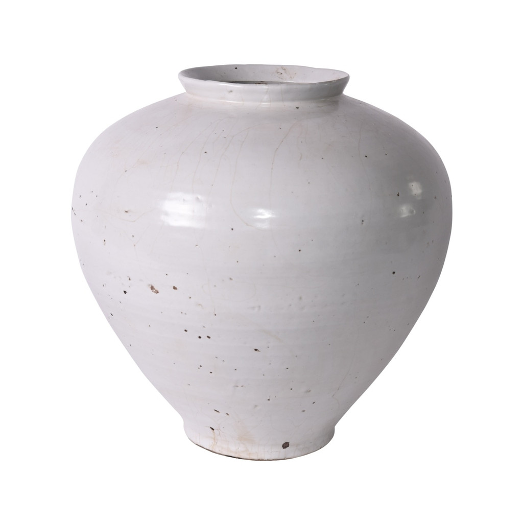 Busan White Open Top Jar