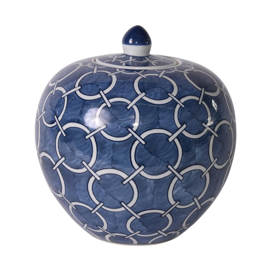 Indigo Blue Circle Melon Jar