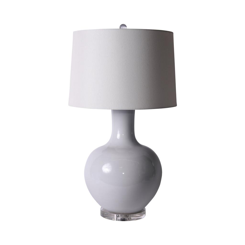 White Globular Vase Lamp