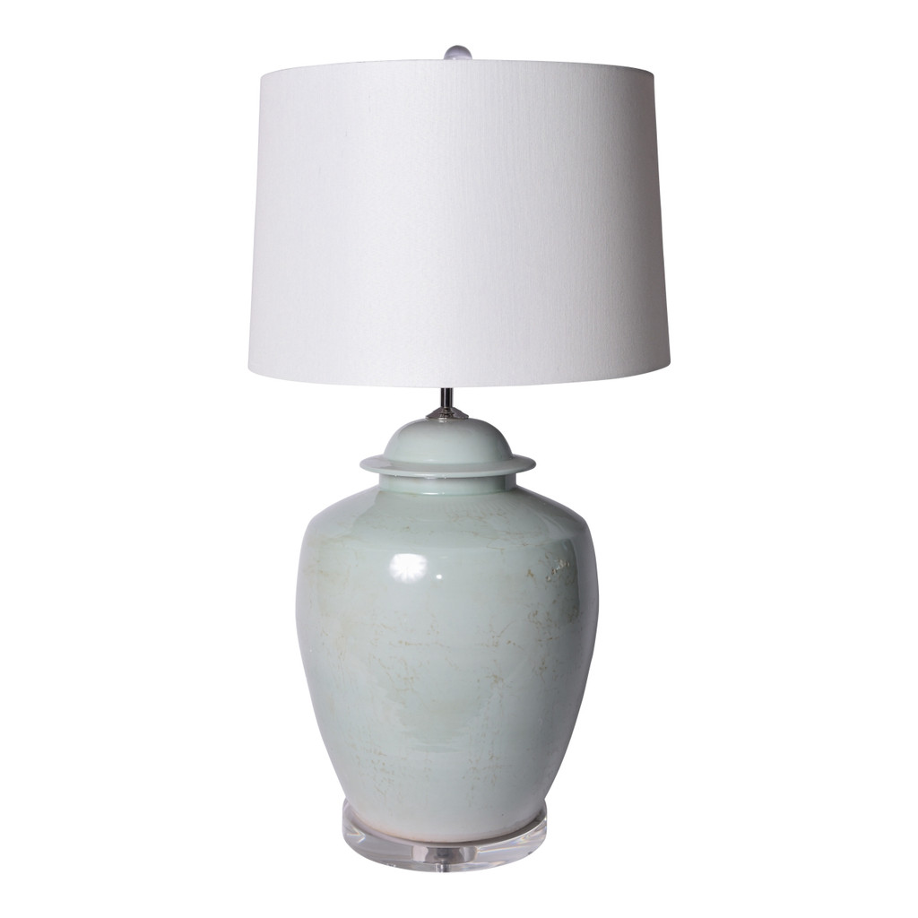 Lidded Barn Jar Mint Green Lamp