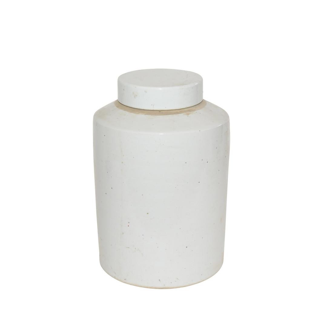 Busan White Tea Jar - 2 Sizes