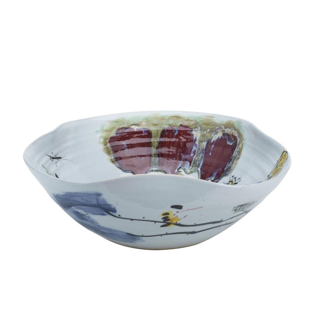 Swirl Bowl Oxblood Lotus - 2 Sizes